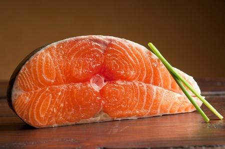 raw fresh salmon photo