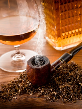 smoking pipe: smoking pipe, tobacco  and liquor