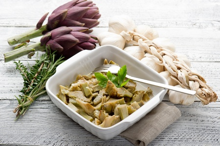 artichoke: sauteed artichoke on dish