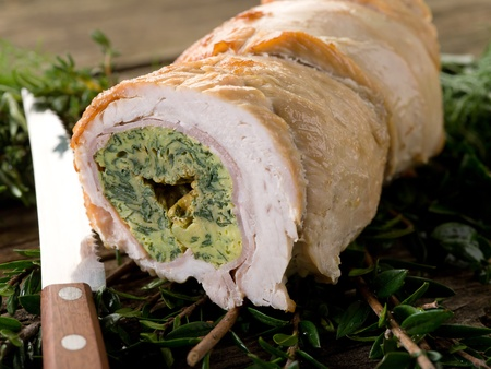 filled roll: turkey roll filled