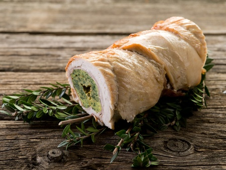 turkey roll filled photo