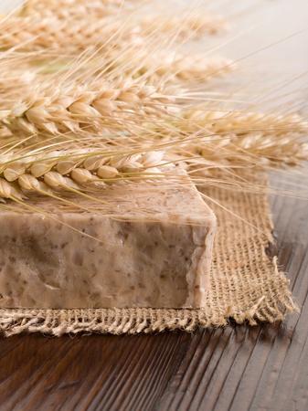homemade naural grain soap photo
