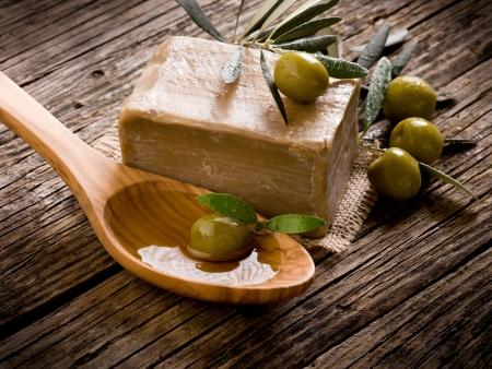 hoja de olivo: jab�n hecho a mano el aceite de oliva