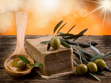 handmade olive oil soap photo