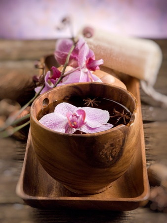 spa concept on wood photo