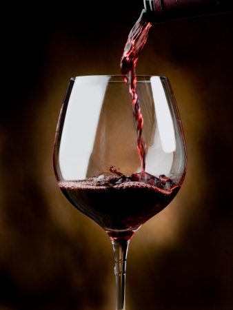 wine bar: glass of red wine Stock Photo