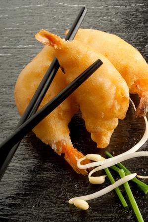 참 새우: 새우 튀김 스톡 사진