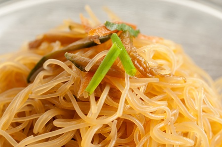 soy spaghetti close up  photo