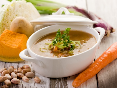 soup vegetables with ingredients photo