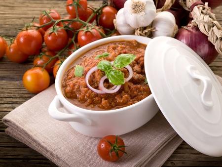 ragout: ragout sauce on bowl