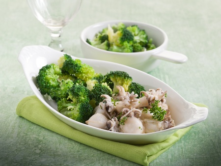 heathy: sepia with broccoli heathy food Stock Photo