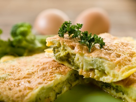 brocoli: tortilla con brócoli