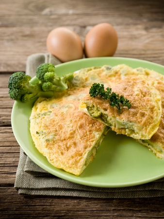 omelet: omelette with broccoli Stock Photo