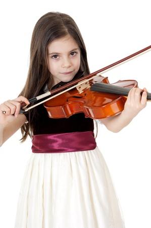 little girl play violin Stock Photo - 11726164