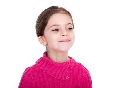 arrogant: haughty little girl  on white background Stock Photo