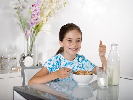 little girl at breakfast time Stock Photo - 11736148