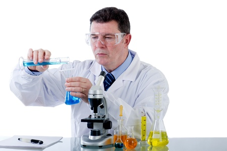 technician working at laboratory Stock Photo - 11751227