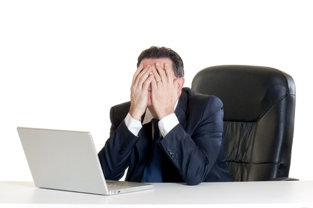 worried businessman: stressed manager