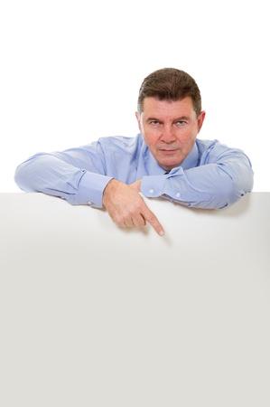man with billboard photo