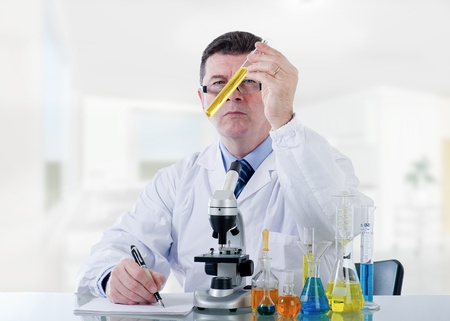 technician working at laboratory photo
