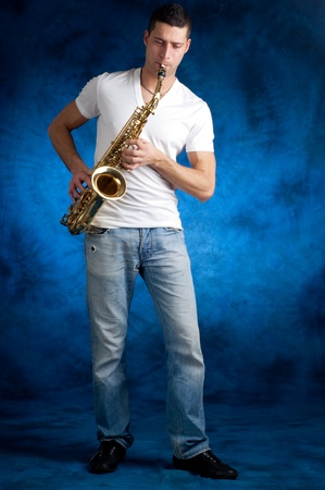 man with sax Stock Photo - 11856367