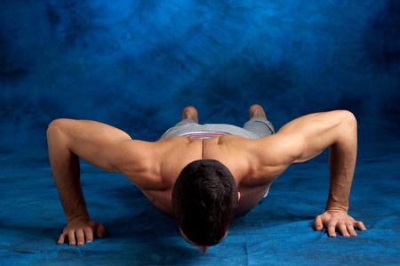 man stretching photo