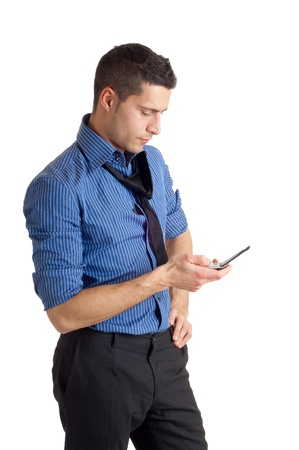 man with phone photo