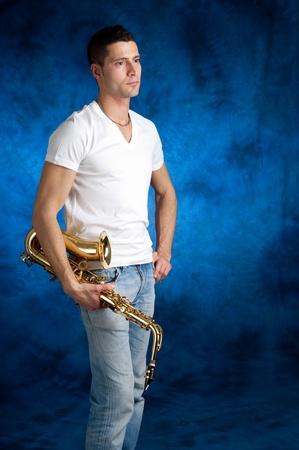 man with sax photo