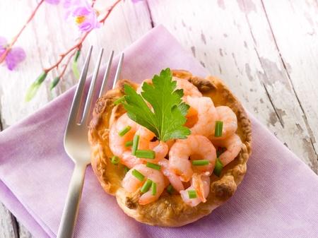 canape: appetizer canape with shrimp