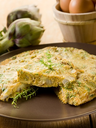 omelette: omelette with artichokes