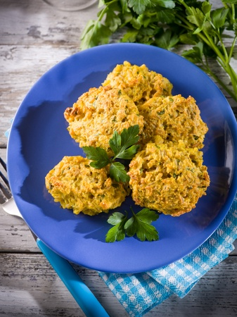 balls deep: rice croquette with parsley