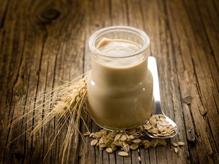 yogurt with cereals photo