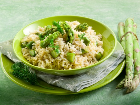 risotto with asparagus photo