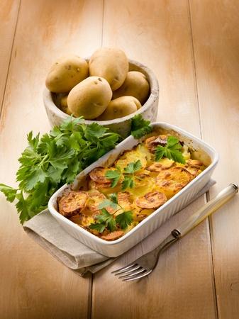 Homemade potato cake, vegetarian food photo