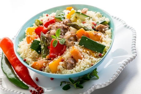 couscous: cous cous with meat  and vegetables