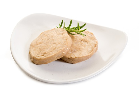 seitan steack on white background Stock Photo