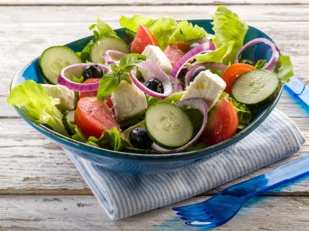 traditional greek salad photo