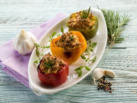 capsicums: capsicum stuffed with tofu,vegetarian food