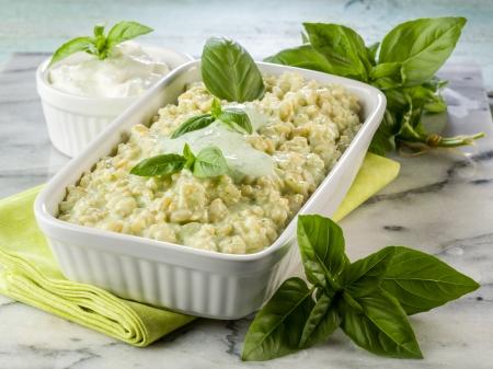 risotto with yogurt and basil healthy food Stockfoto
