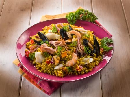 spanish culture: traditonal fish paella