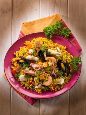 traditonal: traditonal fish paella
