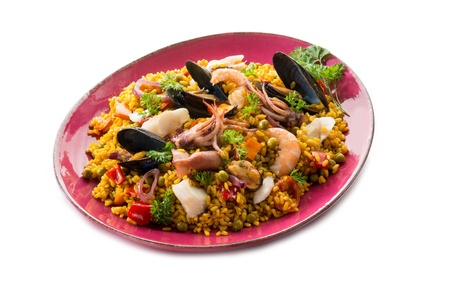 spanish culture: traditional fish paella