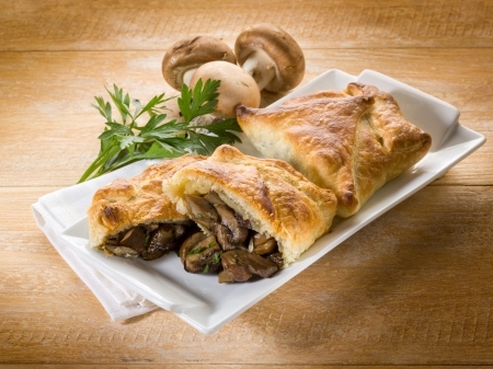 strudel stuffed with  mushroom Stock Photo - 15960140