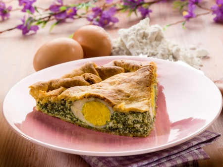pasqualina cake, traditional italian  easter food Stock Photo