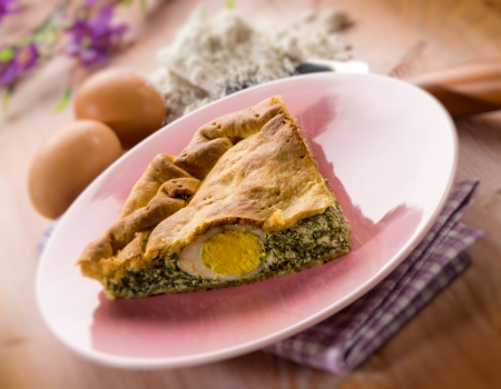pasqualina cake, traditional italian  easter food Stock Photo - 17291224