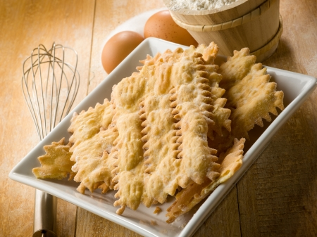 chiacchiere typical carnival dessert Stock Photo - 17736301