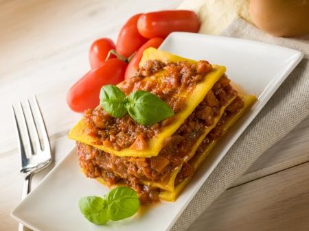 Hausgemachte vegetarische Lasagne Standard-Bild - 17869450