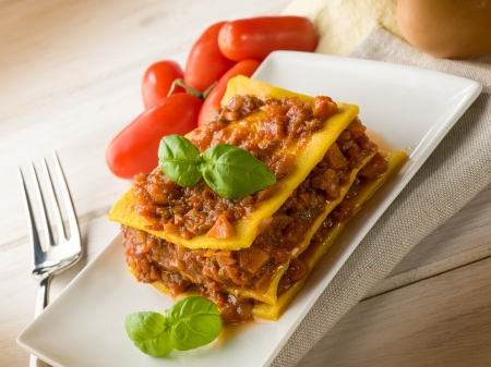 homemade vegetarian lasagne photo