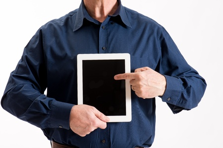 man with tablet pc photo