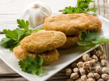 ヒヨコ豆のコロッケ 写真素材